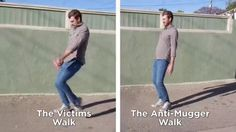 """One of my favorite episodes! The safest way to walk. """"Come at me muggers!!"""""""
