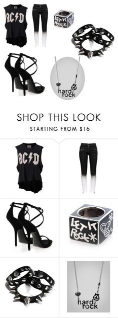 """""""Rocking Black"""" by acethedevine ❤ liked on Polyvore featuring beauty, UNIF, Pierre Balmain, Giuseppe Zanotti and Vivienne Westwood"""