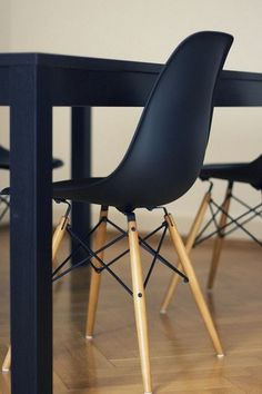 Eames Chair In Black Kombination, Esszimmer, Essen, Schwarzer, Eames  Esszimmerstuhl, Eames