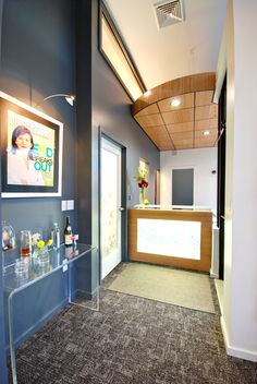 Reception Area With Refreshments At Mint Dental Studio, Bozeman, MT.