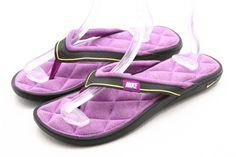 d5f091dd5695 NIKE womens shoes size 11 COMFORT memory foam flip flops thong sandals  purple