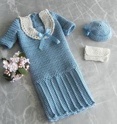 This outfit was inspired by an ensemble that Princess Diana wore in the 1980s: a dropped-waist sailor dress in pale blue with a matching hat and a white clutch. I named this pattern Wedgwood because of the shade of blue, but of course you can make it any color you like! This is my own crochet pattern that I designed for a 16-inch fashion doll, such as Tyler, Gene, Stella, Alex, Poppy, and others, but especially the Diana doll by Franklin Mint. The pattern is 9 pages long and includes photos…