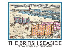 The British Seaside Travel Poster by AmeliaBowman on Etsy, $15.50