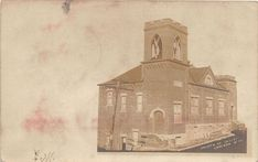 E82/ Cameron West Virginia RPPC Postcard 1907 Church of Christ Building Churches Of Christ, Old Churches, Antique Photos, Public School, Vintage Postcards, West Virginia, Taj Mahal, Building, Painting