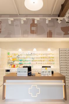 pharmacy design, apotheke http://www.studio-thoernblom.at/portfolio/apotheke-am-handelskai/