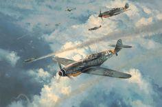 Knight of the Reich, by Robert Taylor (Messerschmitt Bf 109G-6, JG 52, 15 October 1943)