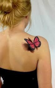 Resultado de imagem para tatuagem realista de borboleta
