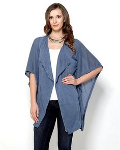 Monoreno Poncho Style Knit Cardigan - Cardigans - Apparel at Viomart.com