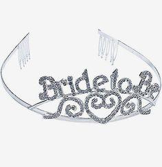 Rhinestone Bride To Be Tiara