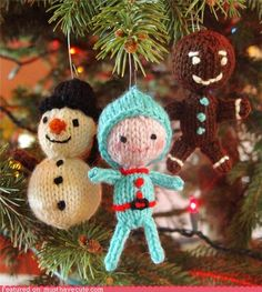 Tiny Christmas dolls