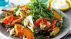 roasted Autumn vegetable salad