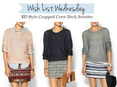 Louella Reese: Wish List Wednesday - Cropped Sweater - fall fashion