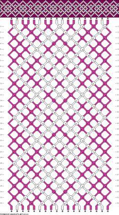 Muster # 63101, Streicher: 18 Zeilen: 32 Farben: 2