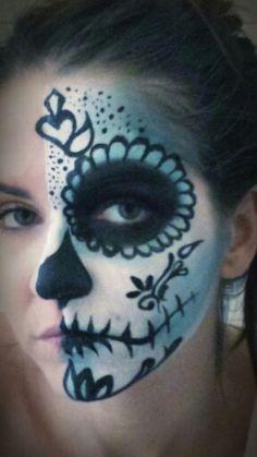 halloween facepaiting Special Effects, Halloween Face Makeup, Make Up, Artist, Artists, Makeup, Beauty Makeup, Bronzer Makeup