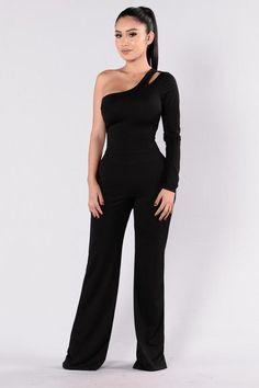New Fashion Nova Jumpsuit Black 40 Ideas Ruffle Jumpsuit, Jumpsuit Outfit, Black Jumpsuit, Denim Romper, Capri Jumpsuit, Long Jumpsuits, Jumpsuits For Women, Fashion Nova Jumpsuit, Cute Fashion