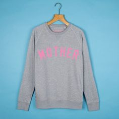 Grey & Cerise MOTHER 'Boyfriend' Sweatshirt