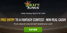 Play fantasy sports for free or real money at Draftkings! Join now and get 1 free entry into a paid game with first deposit of $5 or more. Also get unlimited free entries in the FREEROLL games with prizes of up to $20000!
