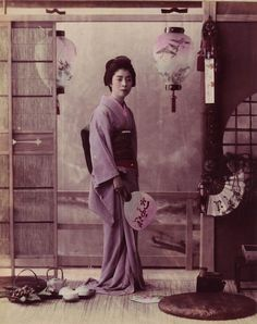 The Geisha came from the major pleasure quarters of Tokyo, including Shimbashi and Yoshiwara. Visitors were encouraged to vote on their particular favourite, with prizes awarded to the five most popular girls. The winner was the nineteen-year-old O-Tama who attracted the patronage of an anonymous admirer who paid for her release from the Tamagawaya Geisha house in Shimbashi.