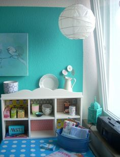 Storage bed , kallax, expedit, girls room, kids room, diy