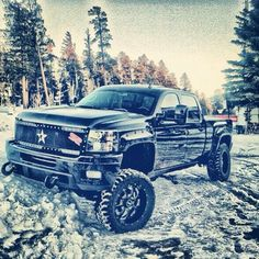 Lifted Chevy Silverado - my truck ! Lifted Chevy Trucks, Gm Trucks, Jeep Truck, Chevrolet Trucks, Cool Trucks, Pickup Trucks, Lifted Dodge, Rolling Coal, Diesel Trucks