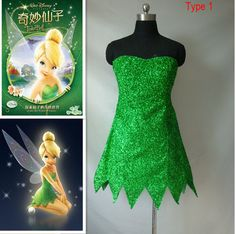 How to Make a Tinkerbell Costume. Create a cute Tinkerbell costume for your child's dress up trunk or your next costume party! Use a green dress or leotard as a base for the costume and accessorize as much as you like. Give your Tinkerbell. Costumes Halloween Disney, Diy Tinkerbell Costume, Tinkerbell Dress, Frozen Costume, Halloween Kostüm, Adult Costumes, Costumes For Women, Pocahontas Costume, Woman Costumes
