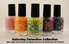 nail polish inspired by the breakfast club!!! aahh