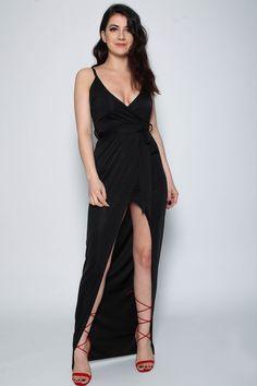 14c8ffe40e6 Slinky Wrap Tie Maxi Dress. Wholesale Clothing