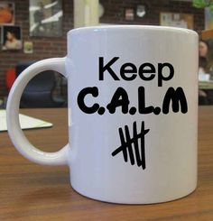 M (Calum Hood, Ashton Irwin, Luke Hemmings, and Michael Clifford) Luke Hemmings, Michael Clifford, Calum Hood, 5 Seconds Of Summer, Keep Calm Mugs, Bae, 1d And 5sos, Band Merch, Going Back To School