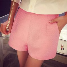 2016 New Fashion Europe and Joker dark Plaid shorts high-waisted shorts Korean…