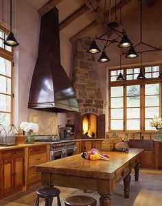 Warm and inviting like a kitchen should be.  Everything about it is perfect