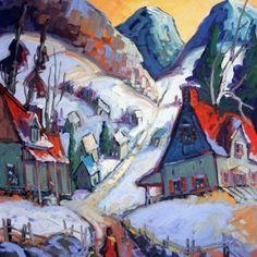 Promenade au rang du nord par Normand Boisvert 24 x 20 / Huile sur toile  #Quebec #Toile #Peinture #Painting #Art #Artist #paysage #hiver #winter #landscape Expositions, Land Scape, Les Oeuvres, Painting, Artwork, Oil On Canvas, Normandie, Artist, Work Of Art