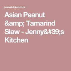 Asian Peanut & Tamarind Slaw - Jenny's Kitchen