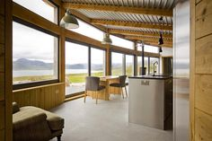 #Laid #LochEriboll #Scotland #interior #design #architecture #timber #glass #furniture #kitchen #livingspace #view #landscape #scenery# modular #construction
