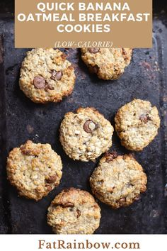 Cookies for breakfast? Doesn't sound too bad, right? Chewy, mildly sweet, sugary yet not so sugar and finally guilt-free low calorie, quick, pop-in-the handbag before you leave the house kind of cookies! I hate ripe fruit esp banana, so these quick banana oatmeal breakfast cookies are a nice choice to replace your boring porridge as well as to avoid food wastage. If you mix some protein powder and perfect for as your post-workout meal. #HealthyDesserts #LowCalorie