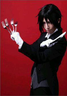 Black butler sebastian cosplay