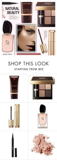 """""""Natural Beauty"""" by redflowergirl ❤ liked on Polyvore featuring beauty, Tom Ford, Bobbi Brown Cosmetics, Guerlain, Armani Beauty and minimalistbeauty"""