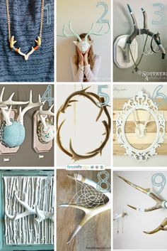 Mounted antler jewelry holder antler jewelry by turquoiseowldesign diy projects deco avec des cornes de cerf solutioingenieria Images