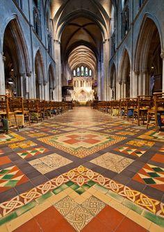 Interior de la catedral de St. Patrick en Dublín
