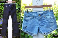 DIY Jeans : DIY perfectly distressed jean shorts