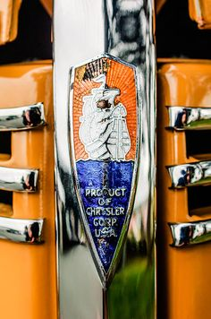 Plymouth Images by Jill Reger - Images of Plymouths -  1940 Plymouth Deluxe Woody Wagon Emblem