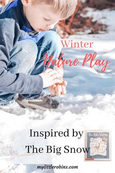 Outdoor play inspired by the classic book, The Big Snow, by Berta and Elmer Hader. Even if snow is not in your forecast, you'll enjoy these child-led ideas. Play Based Learning, Learning Through Play, Early Learning, Fun Learning, Inspired Learning, Hands On Activities, Sensory Activities, Winter Activities, Outdoor Activities