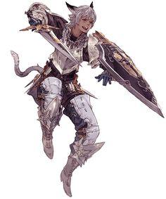 Miqo'te Male Gladiator from Final Fantasy XIV: A Realm Reborn