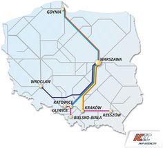 Pendolino - trasy docelowe EIP