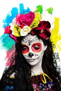 1000 Id Es Sur Le Th Me Maquillage Sugar Skull Sur Pinterest Maquillage De T Te De Mort