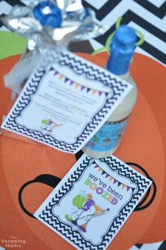 Okay Booing for Grownups ~ I love this!  We've Been Boozed! {Free Printable} | Move over We've Been Boo'ed, there's a new Halloween tradition in town. Spread the Halloween spirit with We've Been Booz'ed free printables.