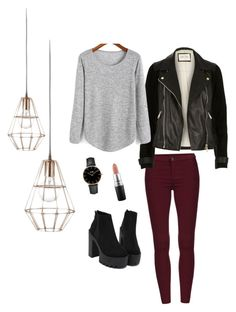 """""""Untitled #15"""" by georgia-marcellus on Polyvore featuring River Island, CLUSE, Bloomingville and MAC Cosmetics"""