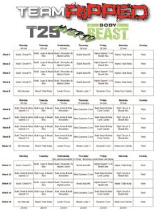 Free Improved Body Beast Workout Sheets  Workout Sheets Body