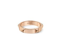 Hermes Mini Clous Ring in rose gold, $1450 (stud) (03/10/16)