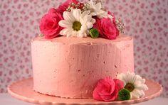 Triple lemon strawberry layer cake