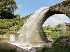 通潤橋 熊本 Kumamoto, Architecture Old, Japan Travel, Waterfall, To Go, Landscape, Country, Bridge, Outdoor